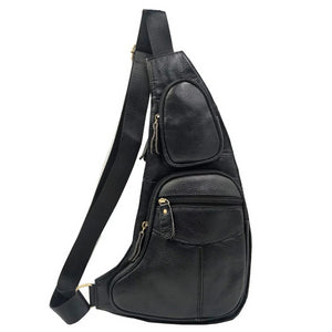 MRoyale™ Men's 100% Leather Crossbody Sling Messenger Satchel Bag crossbody bag MRoyale™ Fashion Black A United States