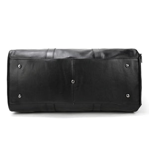 MROYALE™ MEN'S 100% LEATHER DUFFLE WEEKEND TRAVEL BAG w/ Shoe Storage bags elitedealsoutlet