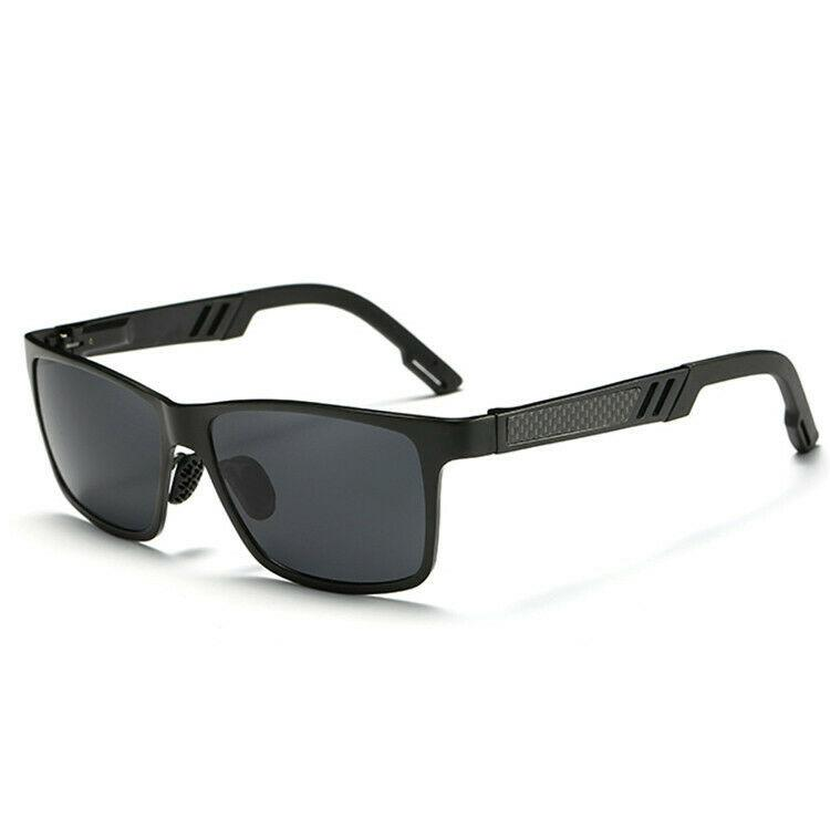 MRoyale™ Men's Aluminum Polarized Sunglasses sunglasses MRoyale™ Fashion Black w/ Black Lens