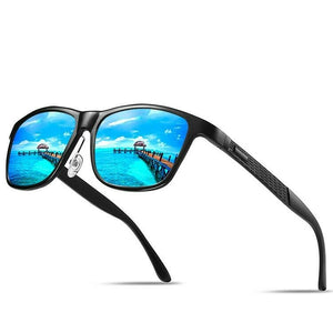 MRoyale™ Men's Aluminum Polarized Sunglasses sunglasses MRoyale™ Fashion Black w/ Blue Lens