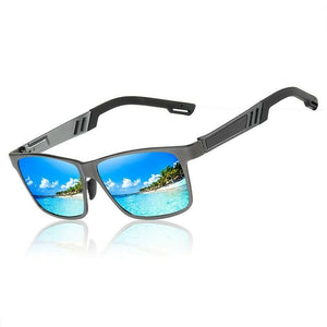 MRoyale™ Men's Aluminum Polarized Sunglasses sunglasses MRoyale™ Fashion Gray w/ Blue Lens