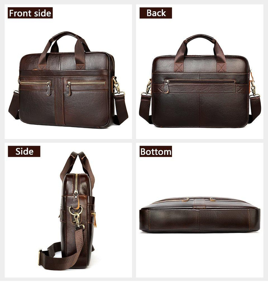 "MRoyale™ Men's Briefcase Leather Messenger 14""/15"" Laptop Crossbody Bag crossbody MRoyale™ Fashion"