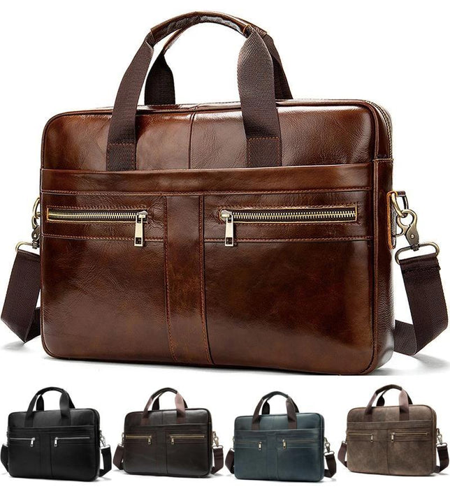 MRoyale™ Men's Briefcase Leather Messenger 14