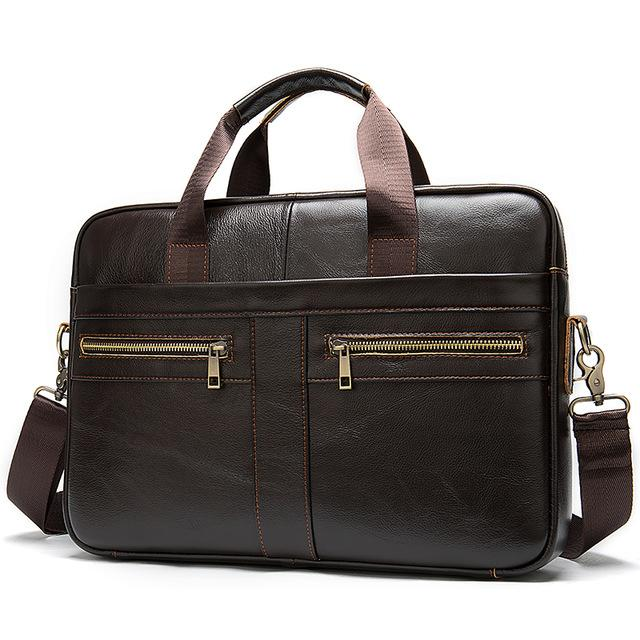 "MRoyale™ Men's Briefcase Leather Messenger 14""/15"" Laptop Crossbody Bag crossbody MRoyale™ Fashion 2019G4darkcoffee CHINA"