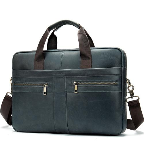 "MRoyale™ Men's Briefcase Leather Messenger 14""/15"" Laptop Crossbody Bag crossbody MRoyale™ Fashion 2019I4gray CHINA"