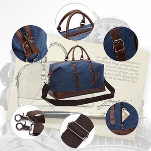 MRoyale™ Men's Canvas Leather Accent Duffle Weekend Travel Bag bags MRoyale™ Fashion