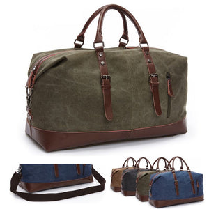 MRoyale™ Men's Canvas Leather Accent Duffle Weekend Travel Bag bags MRoyale™ Fashion Green