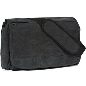 MRoyale™ Men's Canvas Vintage Crossbody Laptop Messenger Satchel Bag crossbody MRoyale™ Fashion Black