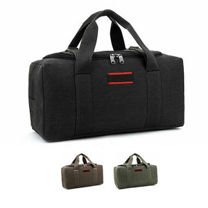 MROYALE™ Men's Military Canvas Duffle Weekender Overnight Travel Bag Bags MRoyale™ Fashion Black 22""