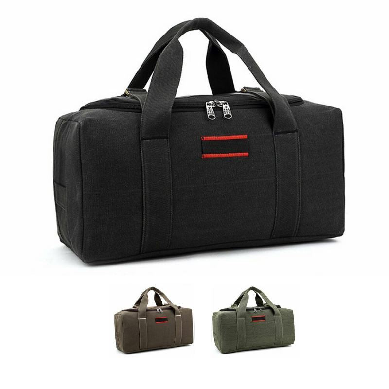 MROYALE™ Men's Military Canvas Duffle Weekender Overnight Travel Bag Bags MRoyale™ Fashion Black 22