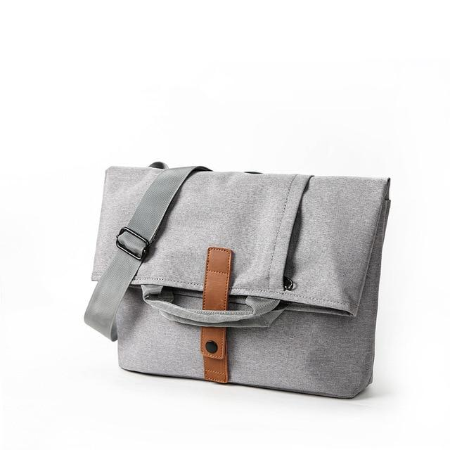 "MRoyale™ Men's Oxford Crossbody 13"" Laptop Messenger Satchel Bag Crossbody Bags MRoyale™ Fashion Light Gray"