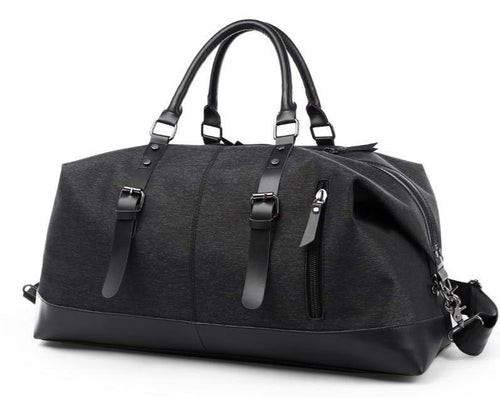 MROYALE™ Men's Oxford Luxury Duffle Weekend Travel Bag bags MROYALE™ FASHION Black