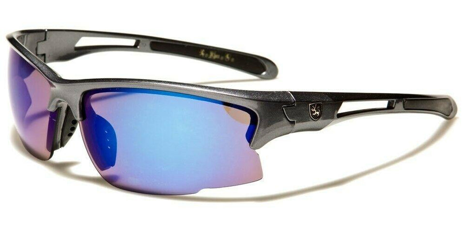MRoyale™ Men's Sports Impact Resistance Sunglasses sunglasses MRoyale™ Fashion Gray w Blue
