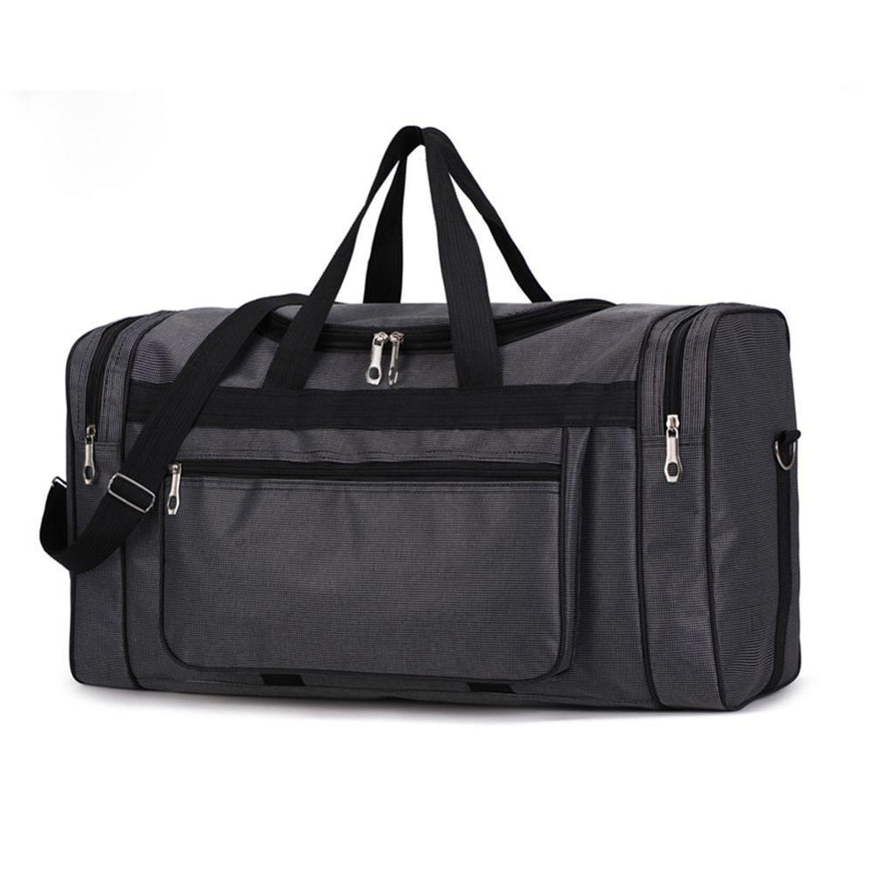 MRoyale™ Men's Sports Nylon Gym Duffle Travel Bag 380430 elitedealsoutlet Black 01