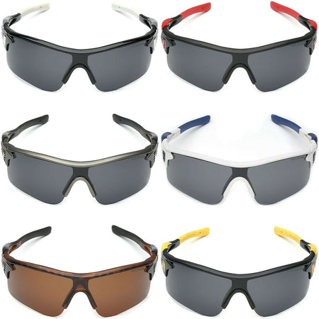 MRoyale™ Men's Sports Sunglasses sunglasses MRoyale™ Fashion Black - Yellow | Gray Lens