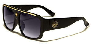 MRoyale™ Men's Square Frame Polycarbonate Sunglasses MRoyale™ Fashion Black - Gold