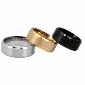 MRoyale™ Men's Stainless Steel Black/Gold/Silver Wedding Band Ring men's ring MRoyale™