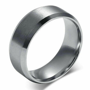 MRoyale™ Men's Stainless Steel Black/Gold/Silver Wedding Band Ring men's ring MRoyale™ 6 Silver