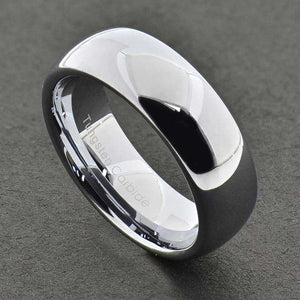 MRoyale™ Men's Tungsten Carbide Silver/Gold Ring - 18k Gold Plated (2-8mm Thick) men's ring MRoyale™