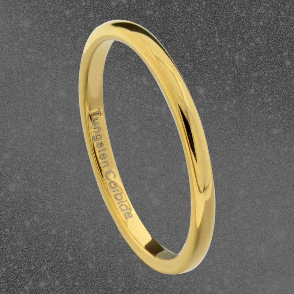 MRoyale™ Men's Tungsten Carbide Silver/Gold Ring - 18k Gold Plated (2-8mm Thick) men's ring MRoyale™ size 10 Tungsten 2mm-Gold