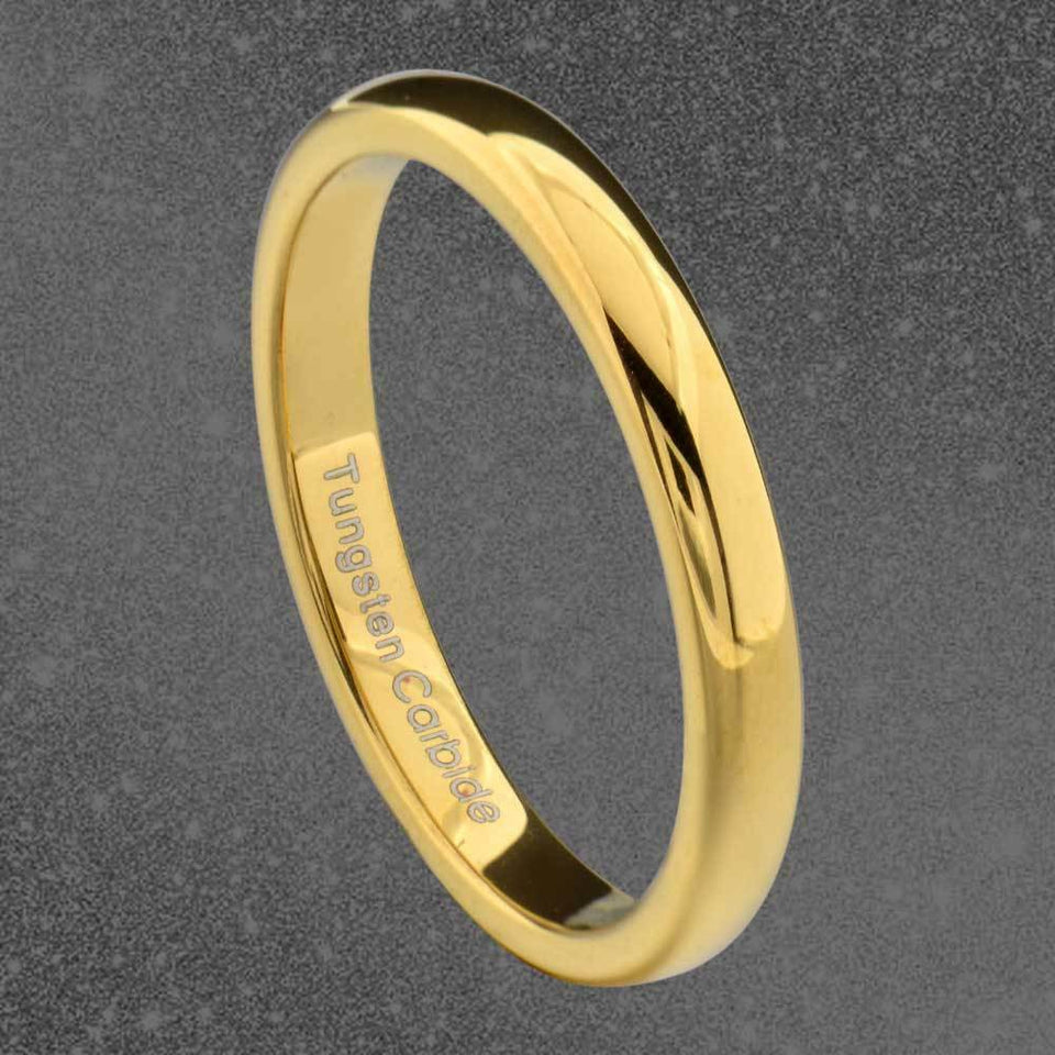 MRoyale™ Men's Tungsten Carbide Silver/Gold Ring - 18k Gold Plated (2-8mm Thick) men's ring MRoyale™ size 10 Tungsten 3mm-Gold