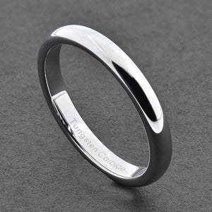 MRoyale™ Men's Tungsten Carbide Silver/Gold Ring - 18k Gold Plated (2-8mm Thick) men's ring MRoyale™ size 10 Tungsten 3mm-Silver