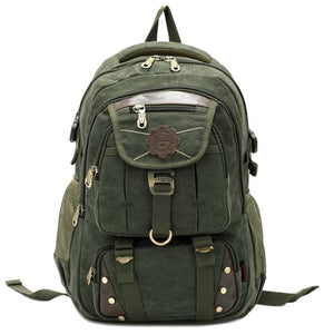 MRoyale™ Men's Vintage Canvas Backpack Backpacks MRoyale™ Fashion Army Green