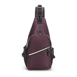 MROYALE™ Sport Sling Water-Repellant Chest Crossbody Shoulder Day Bag Crossbody MRoyale™ Fashion Purple