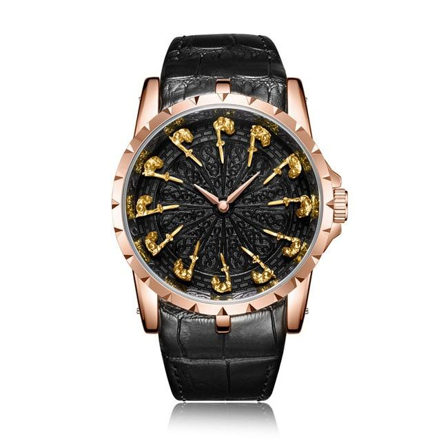 ONO™ Men's Stylish Leather Business Casual Watch Casual Watches ONO™ Fashion ON3809 rose-gold