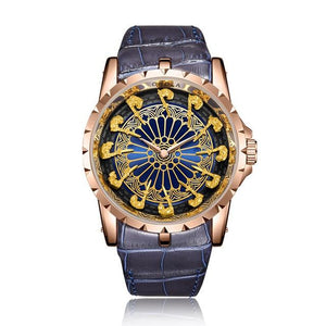ONO™ Men's Stylish Leather Business Casual Watch Casual Watches ONO™ Fashion ON3809rosegold blue