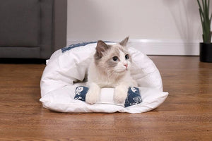 PETLAVISH™ Burrow Calming Cat/Puppy Sleeping Bag - Cozy Plush Kennel w/ Pillow Pet Bed PETLAVISH™ Fashion