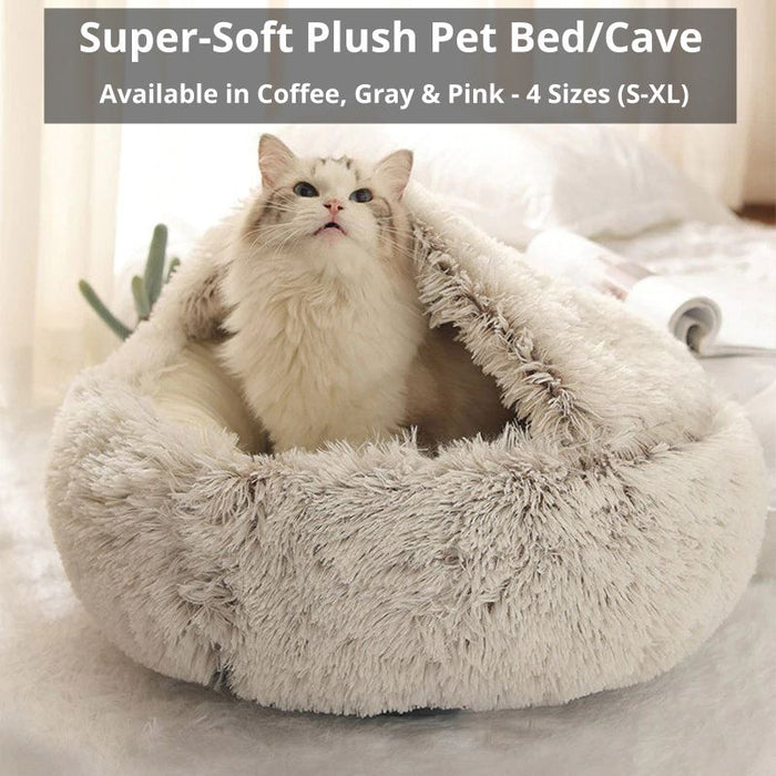 PETLAVISH™ Burrow Calming Cave Cat/Dog Bed - Cozy Plush Sleeping Kennel Pet Bed PETLAVISH™ Fashion