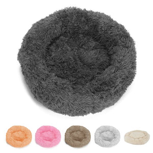 PETLAVISH™ Donut Plush Pet Dog Cat Bed Fluffy Soft Warm Calming Bed Sleeping Kennel Nest Pet Bed PETLAVISH™