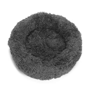 "PETLAVISH™ Donut Plush Pet Dog Cat Bed Fluffy Soft Warm Calming Bed Sleeping Kennel Nest Pet Bed PETLAVISH™ Gray S (23.6"")"