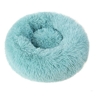 PETLAVISH™ Fluffy Calming Donut Dog/Cat Bed - Cozy Plush Sleeping Kennel Pet Bed PETLAVISH™ Fashion 16in Dark Green