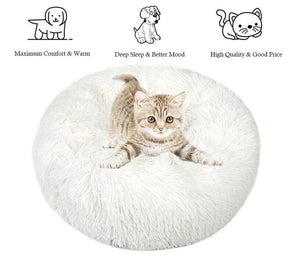 PETLAVISH™ Fluffy Calming Donut Dog/Cat Bed - Cozy Plush Sleeping Kennel Pet Bed PETLAVISH™ Fashion