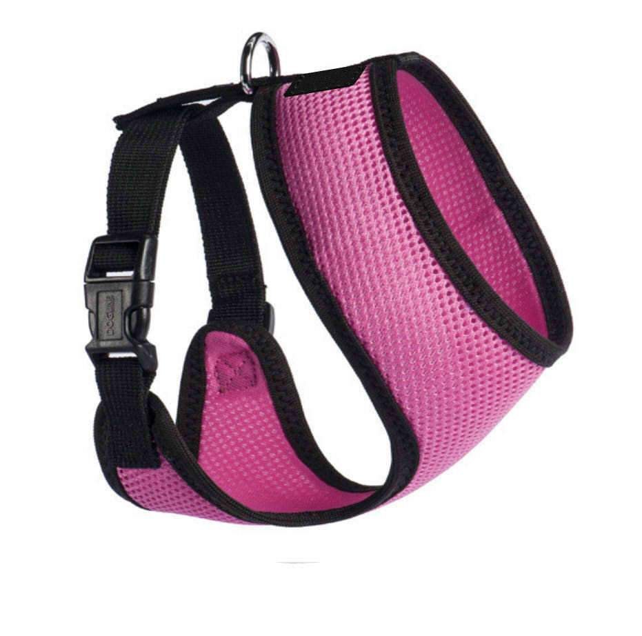 PETLAVISH™ Personalized Embroidery Small Dog Harness: Custom Font, Soft, Breathable No-Choke Vest Dog Harness PETLAVISH™ Hot Pink Size 1