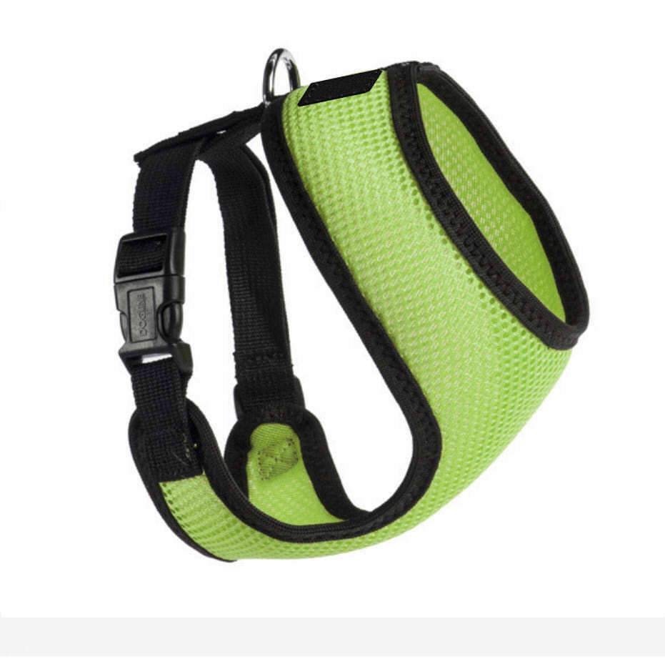 PETLAVISH™ Personalized Embroidery Small Dog Harness: Custom Font, Soft, Breathable No-Choke Vest Dog Harness PETLAVISH™ Lime Green Size 1
