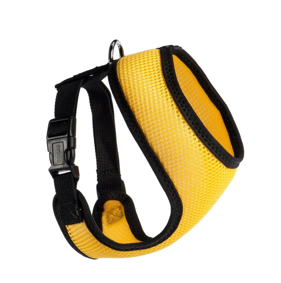 PETLAVISH™ Personalized Embroidery Small Dog Harness: Custom Font, Soft, Breathable No-Choke Vest Dog Harness PETLAVISH™ Yellow Size 1