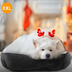 PETLAVISH™ Plush Dog/Cat Non-Slip Bed: S-XXL Cozy Fleece Cushion Mat Kennel w/ BONE Toy Pet Bed PETLAVISH™ Fashion