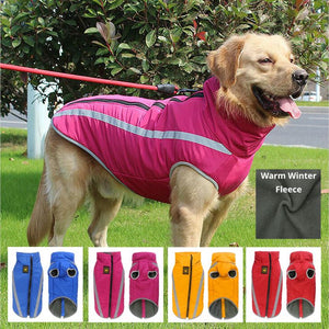 PETLAVISH Pro™ Warm Dog Vest Jacket w/ Harness - Waterproof & Light Reflecting Fleece S-3XL Dog Vest Jacket PETLAVISH™ Fashion