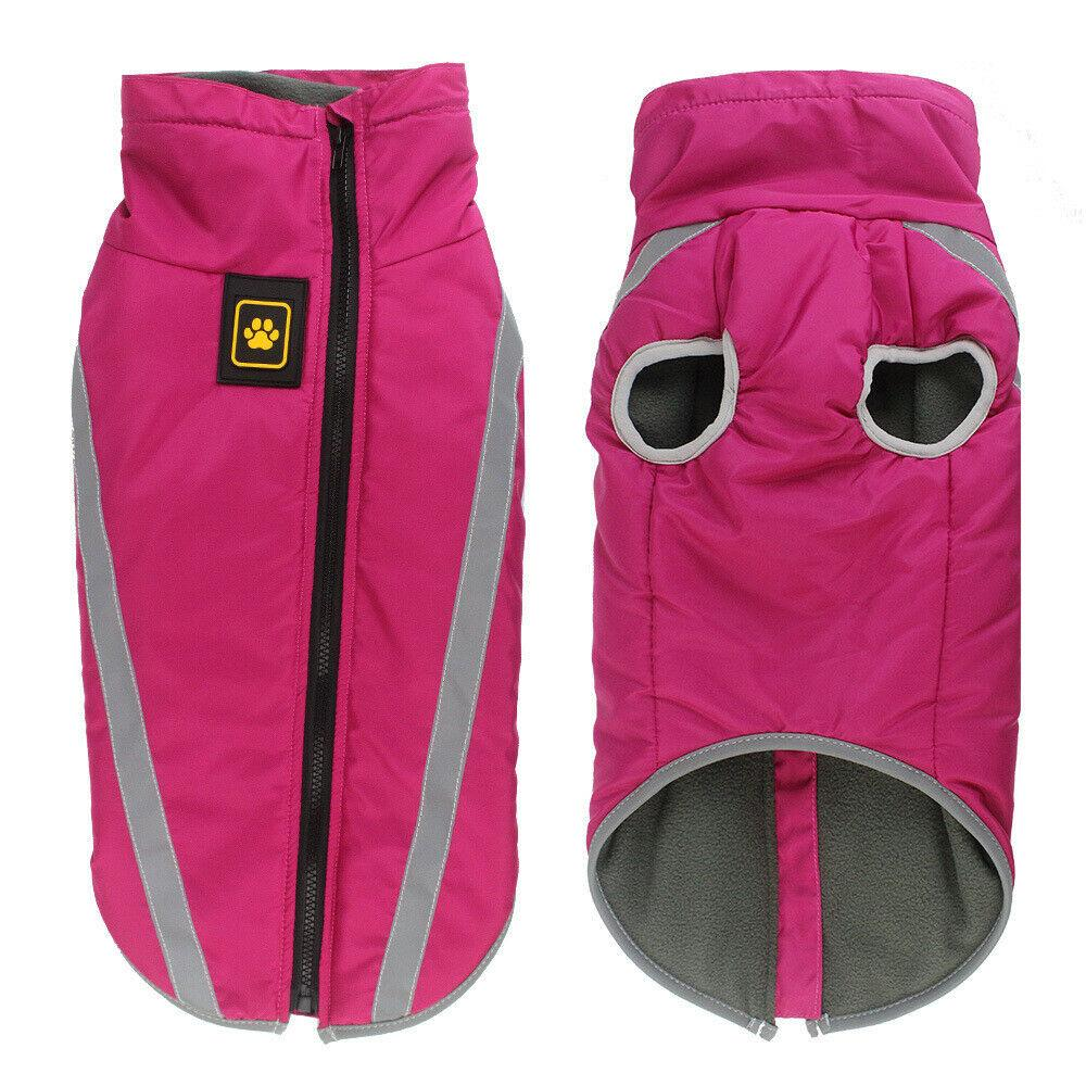 PETLAVISH Pro™ Warm Dog Vest Jacket w/ Harness - Waterproof & Light Reflecting Fleece S-3XL Dog Vest Jacket PETLAVISH™ Fashion Pink S