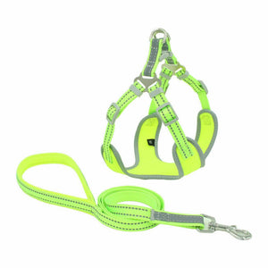 PETLAVISH™ Reflective Dog Vest Harness Leash Collar Set No Pull Adjustable for XS-L Dog Harness PETLAVISH™ Green XS