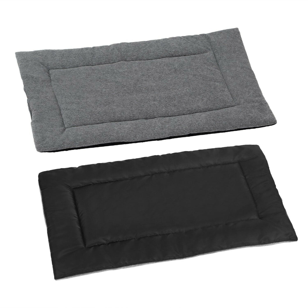 PETLAVISH™ Reversible Calming Mat Dog/Cat Bed - Breathable Cool + Warm Polar Fleece Pet Bed PETLAVISH™ Fashion Small Gray + Balck