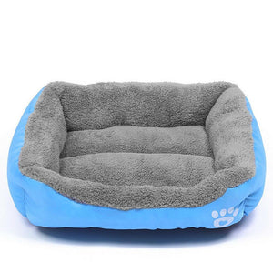 PETLAVISH™ UltraComfy Dog/Cat Breathable Bed: S-XXXL Cozy Fleece Cushion Paw Mat Kennel Pet Bed PETLAVISH™ Fashion Blue S: 17.7*13.8 inch