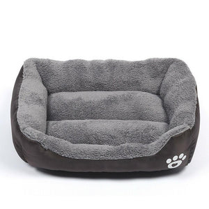 PETLAVISH™ UltraComfy Dog/Cat Breathable Bed: S-XXXL Cozy Fleece Cushion Paw Mat Kennel Pet Bed PETLAVISH™ Fashion Coffee S: 17.7*13.8 inch
