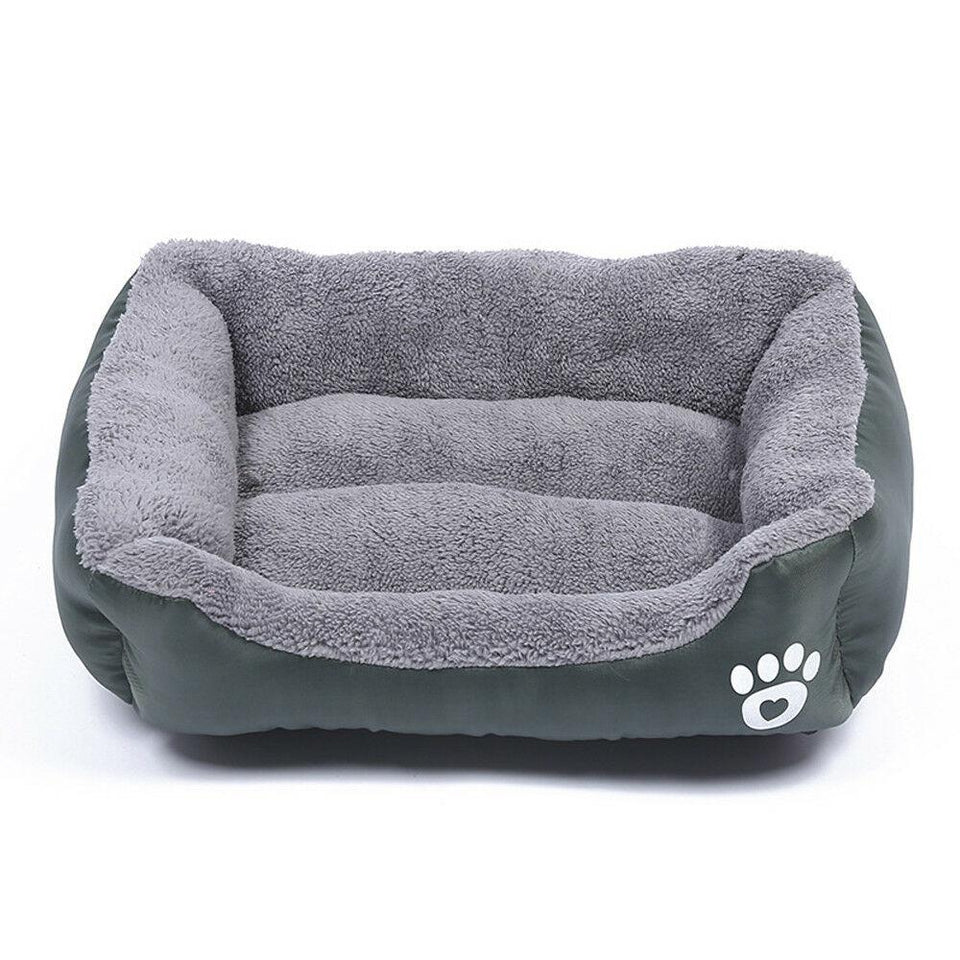 PETLAVISH™ UltraComfy Dog/Cat Breathable Bed: S-XXXL Cozy Fleece Cushion Paw Mat Kennel Pet Bed PETLAVISH™ Fashion Dark Green S: 17.7*13.8 inch