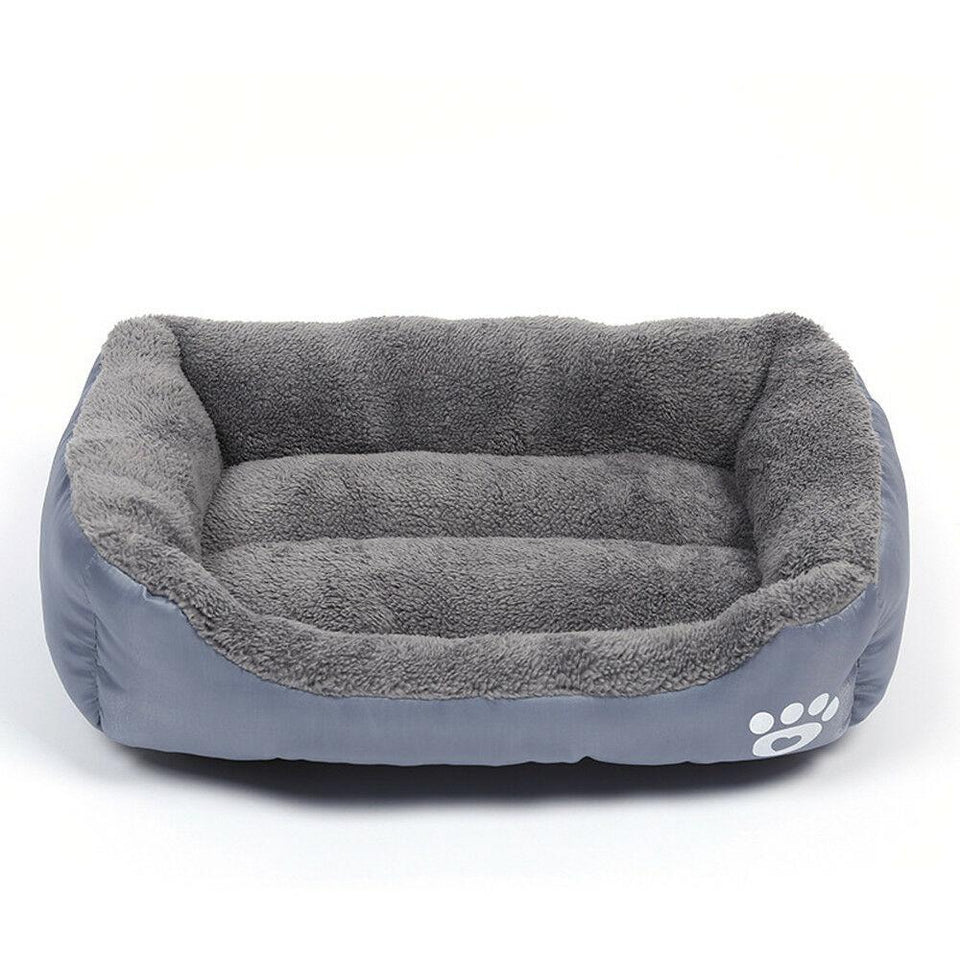 PETLAVISH™ UltraComfy Dog/Cat Breathable Bed: S-XXXL Cozy Fleece Cushion Paw Mat Kennel Pet Bed PETLAVISH™ Fashion Grey S: 17.7*13.8 inch