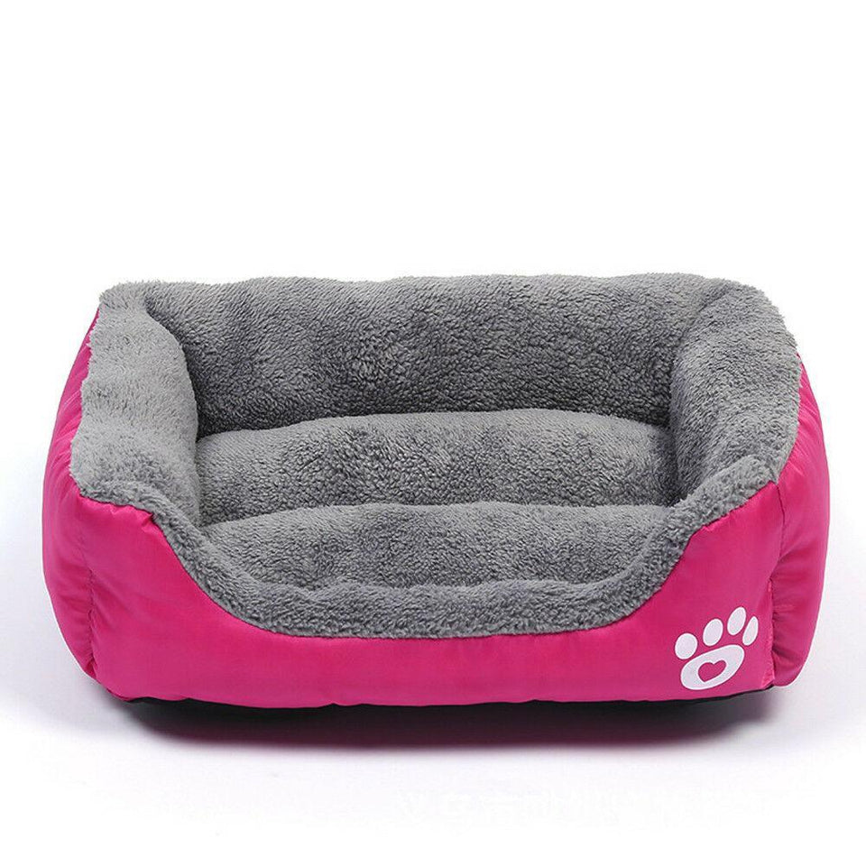 PETLAVISH™ UltraComfy Dog/Cat Breathable Bed: S-XXXL Cozy Fleece Cushion Paw Mat Kennel Pet Bed PETLAVISH™ Fashion Hot Pink S: 17.7*13.8 inch