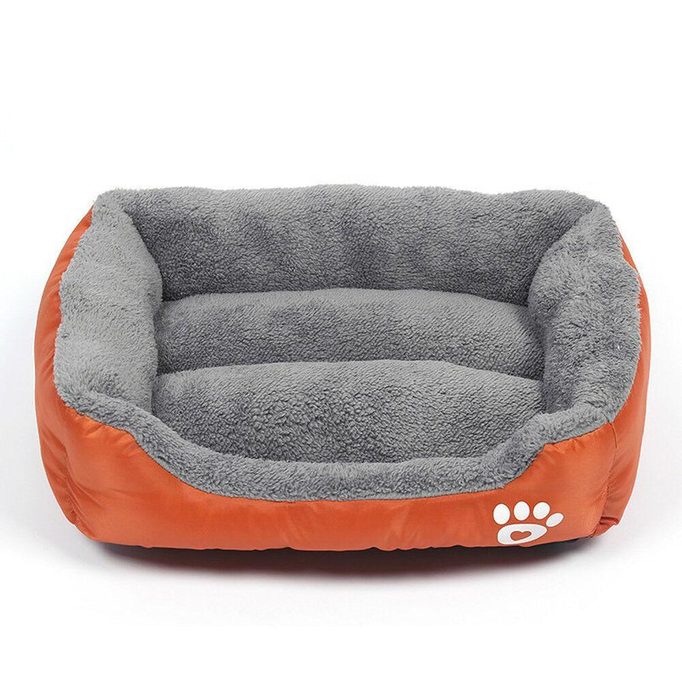 PETLAVISH™ UltraComfy Dog/Cat Breathable Bed: S-XXXL Cozy Fleece Cushion Paw Mat Kennel Pet Bed PETLAVISH™ Fashion Orange S: 17.7*13.8 inch